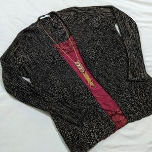 Maurices Marled Black/Brown Cardigan